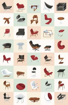 Midcentury modern chairs - not always comfortable but always awesome