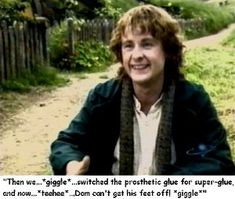 I love pretty much everything the lotr cast did behind the scenes. so many practical jokes