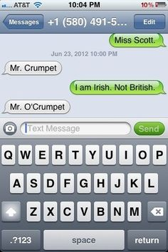 The Web Babbler: Funny Texts #29