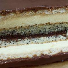 #toscacake #prajituratosca Vanilla Cream, Chocolate Ganache, Deserts, Homemade, Baking, Cake, Sweet, Products, Candy