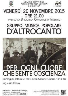 20 NOVEMBRE 2015 - Concerto PER OGNI CUORE CHE SENTE COSCIENZA del Gruppo Musica Popolare D'AltroCanto