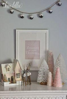 Dear Lillie: The Girls' Christmas Bedroom Christmas Bedroom, Pink Christmas, Christmas Home, Christmas Ideas, Christmas Mantels, Christmas Decorations, Dear Lillie, Christmas Wonderland, Jingle Bells