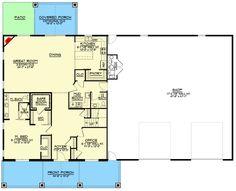 Barn Homes Floor Plans, Metal Barn Homes, Basement Floor Plans, Pole Barn House Plans, Pole Barn Homes, Shop House Plans, Barn Plans, Dream House Plans, House Floor Plans