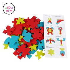 [Umu] Wooden Puzzles Toys For Kids Train Creativity Imagnation Toy Children's Ability Environmental Educational Wooden Toy-in Blocks from Toys & Hobbies on Aliexpress.com | Alibaba Group