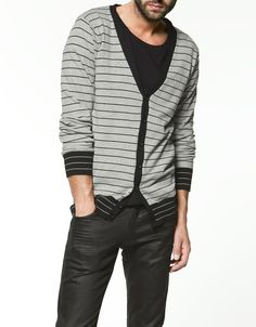 For the indie-style guy - Cardigan.  Shirt.  Pants.  Zara.  #mens  #fashion