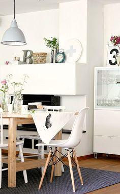 #interior #styling #dining #decor #Eames #lamp #chair #fireplace #scandinavian