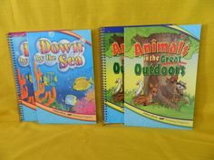 ABeka Animals in Great Outdoors & Down by the Sea Reading Student & Teacher 2nd #TextbookBundleKit