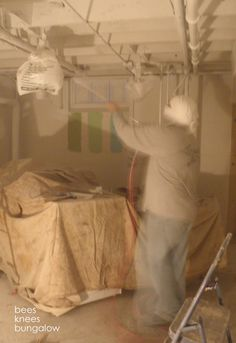 I want to do this. Painting an exposed basement ceiling.