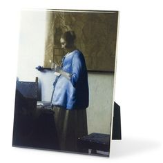 Ceramic Tile - Vermeer's Woman in Blue Reading a Letter