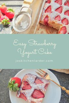 Easy Strawberry Yogurt Cake