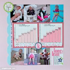 Chart your baby's growth on a scrapbook page, including her height/weight as compared with the national average. (You can get this info from your pediatrician.)