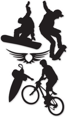 Boys > Beyond Extreme Vinyl Silhouettes by Little Yellow Bicycle: Stickers Galore  $4.99