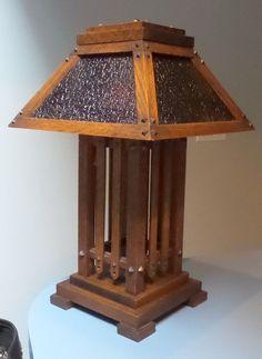 Antique Mission Oak Arts U0026 Crafts Stickley Roycroft Limbert Style Table Lamp
