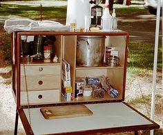 Chuck Box Plan Camping Chuck Box, Camping Box, Truck Camping, Family Camping, Camping Hacks, Camping Gear, Outdoor Camping, Camping Stuff, Camping Shelters