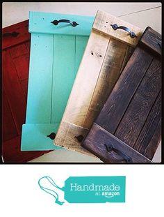 Decorative Pallet Tray. from Time Honored Creations http://www.amazon.com/dp/B015TLXNI0/ref=hnd_sw_r_pi_dp_ohlpwb1KTTFMS #handmadeatamazon