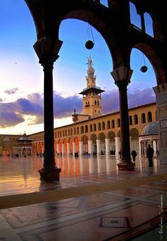 Omayyad Mosque - The Columns    Location: Old Damascus, Syria  Photo by: Abdulhameed Shamandour
