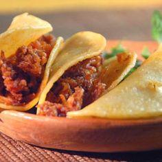 ::AL SABOR DEL CHEF:: Recetas, consejos y más para la cocina. Tacos de chicharron prensado