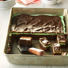 Chocolate Mint Brownies Recipe from Taste of Home