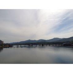 Crossing the bridge near Seoul