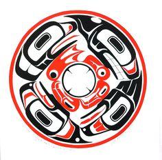 Four Haida Clans: Frog, Whale, Raven, Eagle Haida Kunst, Haida Art, Totems, Native Art, Native American Indians, Haida Tattoo, Le Totem, Raven Art, Native Design