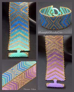 PATTERN Single Peyote Chevron Lace Bracelet