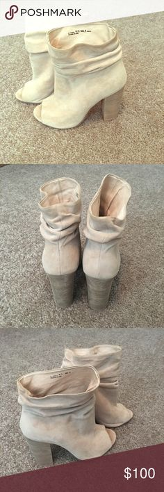"""Kristin Cavallari for Chinese Laundry """"Laurel"""" Tan suede ankle booties, worn once. Size 9.5. In stores now for $150 retail. Chinese Laundry Shoes Ankle Boots & Booties"""