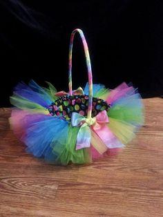 Tutu Inspired Girls Easter Basket by MadeWithLoveByMommy on Etsy, $25.00