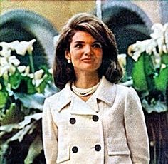 I had a suit just like Jackie's that was white with black buttons!