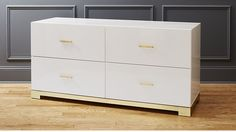 odessa low white gloss dresser $899 and matching nightstand