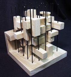 Maquette villa vpro by mvrdv Conceptual Model Architecture, Architecture Model Making, Wood Architecture, Conceptual Design, Theater Architecture, Structural Model, Arch Model, Cube Design, Building Design