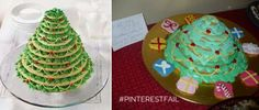 Cookie Christmas tree cake is decked out as a #pinterestfail