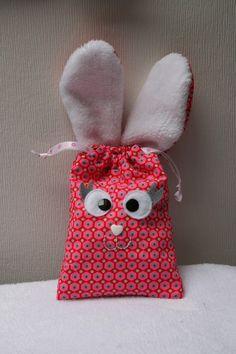 DIY du pochon lapin de Pâques version fille !