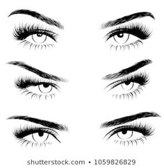 Explore high-quality, royalty-free stock images and photos by Moschiorini available for purchase at Shutterstock. Perfect Eyebrow Shape, Perfect Eyebrows, Eyebrows Sketch, Cute Bun Hairstyles, Perfect Red Lips, Lip Shapes, Business Hairstyles, Big Lips, Sexy Makeup