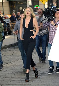 Gigi Hadid - Out and about commercial candids in New York, May 8, 2015.