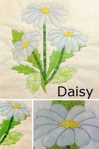 Daisies are one of the most popular and common flowers around. Everyone loves daisies. This flower block, even though it has many pieces, is easy to make. The pattern includes full sized templates as well as a layout guide. Download this pattern for $4.95 Quilt Block Patterns, Applique Patterns, Applique Quilts, Applique Designs, Quilt Blocks, Geometric Lion, Easter Fabric, Butterfly Quilt, Felted Wool Crafts