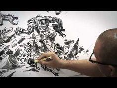 김정기 JungGi Kim Drawing performance for Christie's - YouTube