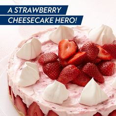 Discover a go-to collection of strawberry cheesecake recipes. From no-bake to easy recipes, My Food and Family has rich & creamy strawberry cheesecake recipes. Kraft Foods, Kraft Recipes, Köstliche Desserts, Delicious Desserts, Dessert Recipes, Yummy Food, Cake Recipes, Easter Desserts, Dessert Cups