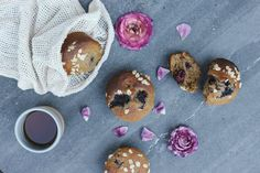 Here's a pleasingly simple muffin recipe that is quite forgiving. I find the muffins are exceptionally delicious with boysenberries or raspberries, their tart vibrant juice seeping in to the soft, swe All You Need Is, Boysenberry Recipe, Petite Kitchen, Sugar Free Treats, Simple Muffin Recipe, Healthy Sweets, Healthy Meals, Healthy Food, Raspberries