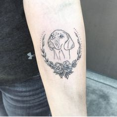 Forever with me and by my side. My Koda. Tattoo by Hayley at Living Art Gallery. Pet memorial tattoo.