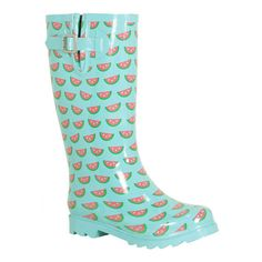 Chooka watermelon rain boots clipped by megan! found on Polyvore