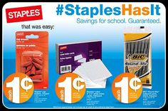 staples sales