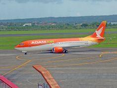 Adam Air Boeing 737 at Ngurah Rai Airport, Denpasar, Bali