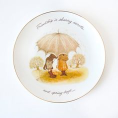 Holly Hobbie Friendship Plate