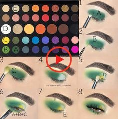 Ashley Haw Tutorial mit der Morphe x James Charles-Palette - Augen Make-Up Makeup Eye Looks, Eye Makeup Steps, Cute Makeup, Elf Makeup, Makeup Set, Fairy Makeup, Beauty Makeup, Creative Eye Makeup, Colorful Eye Makeup