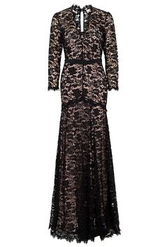 TEMPERLEY LONDON  LS AMORET LACE V NECK GOWN  $ 5,125