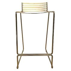 Grace your kitchen counter with stunning metallic looks and contemporary design with the captivating Studio Wire Bar Stool, Gold from Life Interiors.