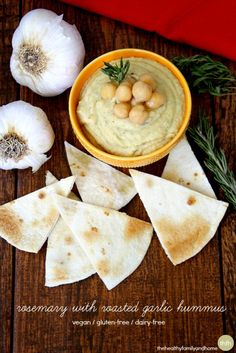 Rosemary with Roasted Garlic Hummus...the fastest and easiest hummus you will ever make! Made with dipping oil from @Pastamore Gourmet Foods Gourmet Foods Gourmet Foods Gourmet Foods and it's vegan, gluten-free and dairy-free too! Enjoy! #vegan #glutenfree #dairyfree #cleaneating #eatclean #hummus