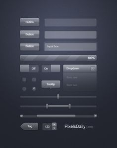 Transparent Glass UI: Free PSD for User Interface Design - Interface Design - Free Download