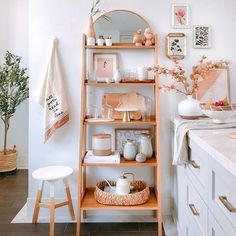 """""""All you need is less"""" well apparently we didn't get the memo 😂 we thought the stitching on the tea towel was """"all you need is love"""" hahaha💕  -  Swipe to see how we styled our pantry shelfie ✨  -  Designed and styled by Jade"""