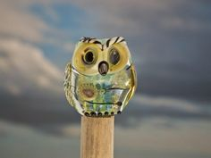 Sebastian lampwork owl bead sra by DeniseAnnette on Etsy, $25.00
